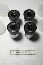 Lote oculares microscopio 10x 15x P10x KW15x eyepiece (23,2mm Made in Japan)