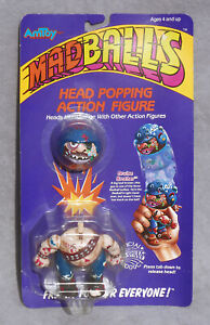 1986 MADBALLS Head Popping Toy Action Figure BRUISE BROTHER Vintage AMTOY - MOC