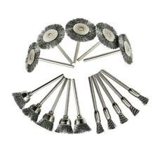 15Pcs Steel Wire Brush Polishing Wheels Set Kit For Rotary Tool Drill Bit 3 Mode