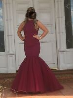 sherri hill mermaid style prom dress size 12 worn once excellent condition