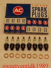 'NOS' AC-45 Spark Plugs...... 'Circa 1965'......w / Copper Gaskets