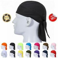 Summer Cooling Skull Cap Du Rag Motorcycle Biker Head Wrap Do Doo Bandana Hat UK