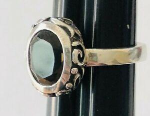 RETIRED SILPADA SMOKY QUARTZ FILIGREE STERLING SILVER RING – Size 7