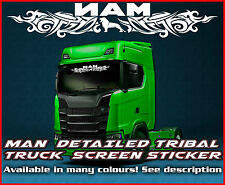 MAN TRIBAL Truck screen sticker decal Glass Lorry Windscreen TGA TGX TGM TGL v2