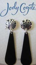 Jody Coyote Earrings JC0901 new Orchid SMC220-01 black silver dangle hypoallerg