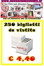 250 BIGLIETTI DA VISITA 300 GR. STAMPA FRONTE