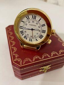 Cartier table clock, alarm