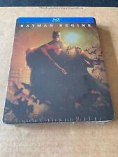 Batman Begins Steelbook Blu Ray Region Free US Import New & Sealed DCU