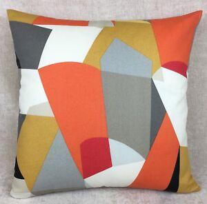 "SCION ""PUCCI"" Fabric STONE/CHILLI/GLOW Cushion Cover, Reversible  Geometrical"