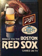 Boston Red Sox 1978 MLB pocket schedule - Schlitz Beer