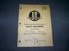 Vintage I&T Shop Service Manual No. AC-20 Allis Chalmers Models D-10 and D-12