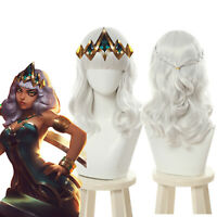 Empress of the Elements Qiyana Silver Curly Wave Cosplay Wigs