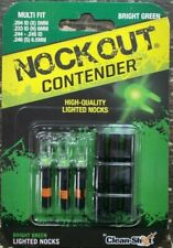 Nockout Contender Multi-Fit Lighted Nocks-3pk-Green
