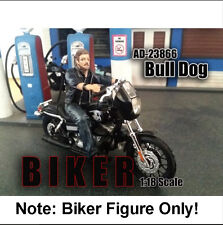 "American Diorama Biker Figure ""Bull Dog"" 1:18 Scale"