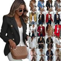 Women Slim OL Suit Casual Long Sleeve Blazer Jacket Coat Tops Outwear Size S-5XL