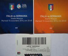 VIP TICKET Stub ... 15.11.2016 Italien Italy Italia - Deutschland