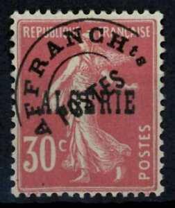 Algeria 1924-5 SG#17, 30c Rosine Pre-Cancel Offset On Back Error MH #E90993