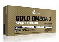 OLIMP. GOLD OMEGA 3, SPORT EDITION VITAMINS. 120 Capsules.