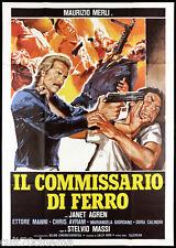 IL COMMISSARIO DI FERRO MANIFESTO CINEMA FILM POLIZIESCO 1978 MOVIE POSTER 4F