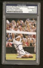 Roger Federer Tennis 2003 Netpro Photo Card Signed Auto PSA/DNA ENCAPSULATED