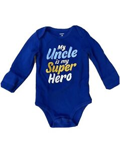 CARTER'S LONG SLEEVE BABY CLOTHES BOY SIZE 18 Months SUPERHERO UNCLE SHIRTS TOPS