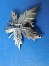CANADA MAPLE LEAF VINTAGE PIN BROACH BUTTON COLLECTOR SOUVENIR