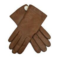 Vintage Jordan Marsh Womens Gloves Brown Leather Lined  Size 7 New