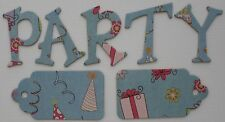 Imaginisce *ALL KiNDS OF HAPPY *  Chipboard Letters & Die Cuts 1.5""