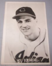 1950's Cleveland Indians Hall of Famer Lou Boudreau Glossy Postcard / Post Card