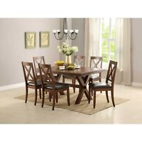Dining Room Table Set Farmhouse Wooden Kitchen Tables And Chairs Sets 6 Seat