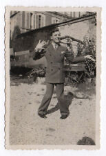 PHOTO ANCIENNE ANONYME Homme Man Gay Interest 1930 Drôle Funny Figure Main
