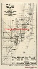 16x20 Poster Historic Map City of  Miami and environs 1925 #ct003156