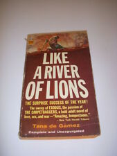 LIKE A RIVER OF LIONS by TANA DE GAMEZ, PAPERBACK LIBRARY #54-196,  6TH, 1965 PB