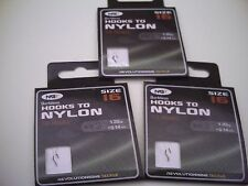 30 x Barbless Hooks To Nylon. Size 16 to 3lb Line.Ideal for Commercial Fisheries