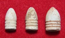3 Different Cal. Excavated Yankee 3-ring Bullets - .54, .58 & .69 Calibers (NEW)