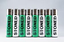 8 pcs New Refillable Clipper Lighters Stoned Design