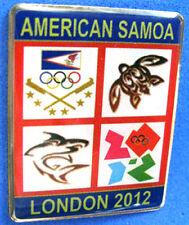 LONDON 2012 Olympic AMERICA SAMOA NOC Internal team - delegation RARE DATED pin