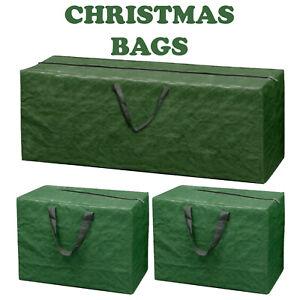 3 x LARGE CHRISTMAS STORAGE ZIP BAGS TREE DECORATIONS LIGHTS HANDLES XMAS SACK