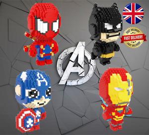 Superhero Nano Building Blocks with Box Gift UK - Ideal Stocking Filler
