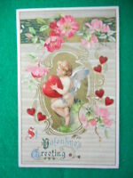 Vintage Embossed Valentine Postcard John Winsch St Valentines