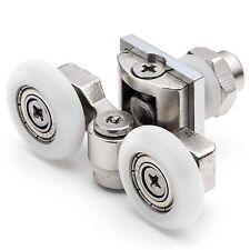 2 x Twin Top Shower Door Rollers/Runners/Wheels 20mm, 23mm or 25mm L057