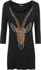 Damenblusen, - tops & -shirts aus Viskose mit Tiermuster für die Freizeit