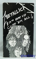 METALLICA $19.98 HOME VID CLIFF 'EM ALL VHS Tape Burton Music Vintage 1987