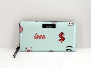 Kate Spade New York Daycation Neda Wallet Clutch $158 Mint Multi New! NWT