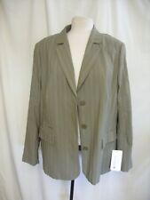 Ladies Jacket Fuchs Schmitt Germany, khaki green textured stripes, UK 22, 0880