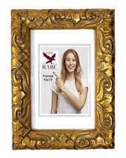 Barock Bilderrahmen Rokoko Fotorahmen Oval 10x15 Antikstil Look Gold Stil Antik