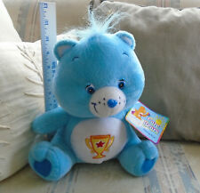 Care Bears Champ Bear Plush w/ Tag Vintage 2004 Large Care Bear Trophy patrn Euc