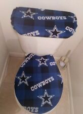 Dallas Cowboys Box Fleece Toilet Seat Cover Set Bathroom Accessories