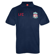 Liverpool FC Official Football Gift Mens Crest Polo Shirt Navy Blue Small