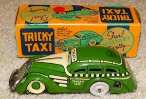 VINTAGE MARX TRICKY TAXI WIND UP CAR IN BOX
